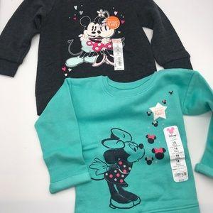 Disney Jumping Beans Minnie Sweatshirts NEW